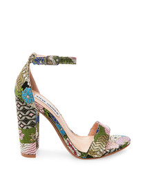 Carrson multicoloured pattern high heels