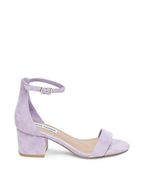 Irenee purple mid-heel sandals