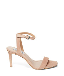 Faith blush suede-style high heels