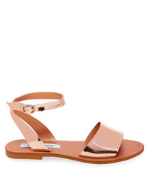 Danny rose gold faux leather sandals