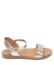 Dina rose gold buckle sandals