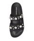 Polite black pearl sandals Sale - Steve Madden Sale