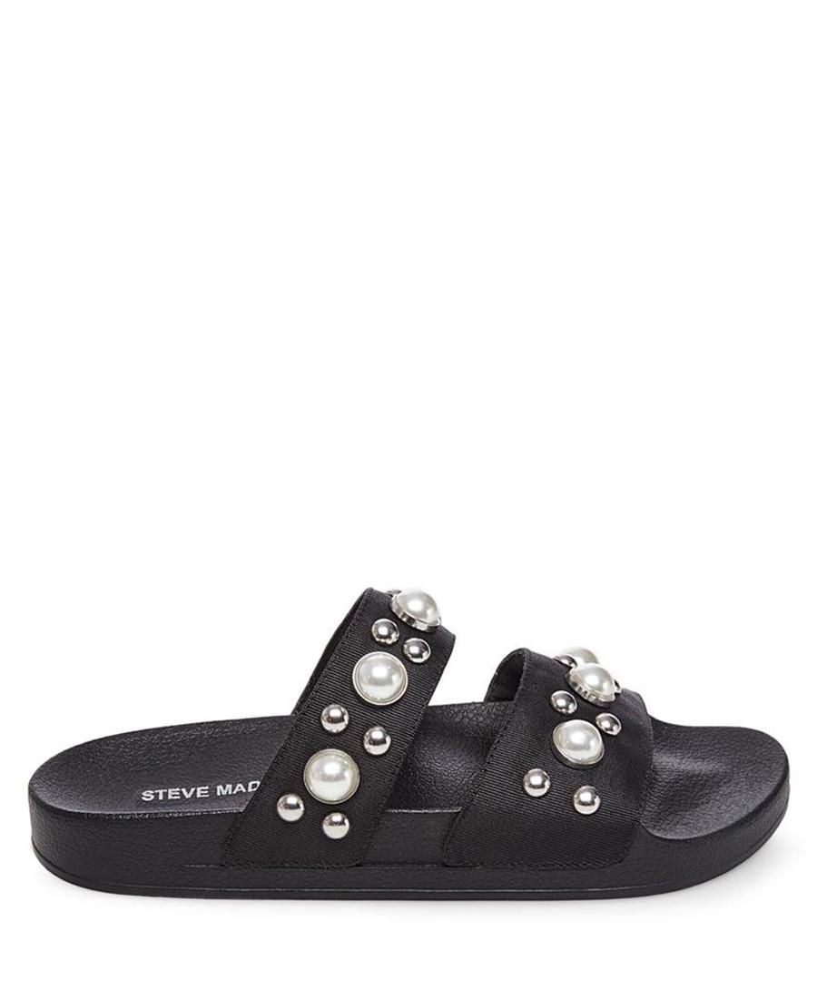 Polite black pearl sandals Sale - Steve Madden