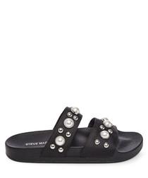 Polite black pearl sandals