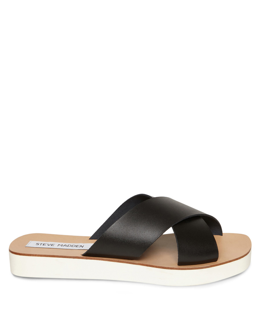 Trent black & brown sandals Sale - Steve Madden