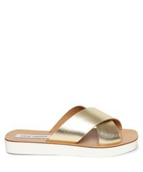 Trent gold strap sandals