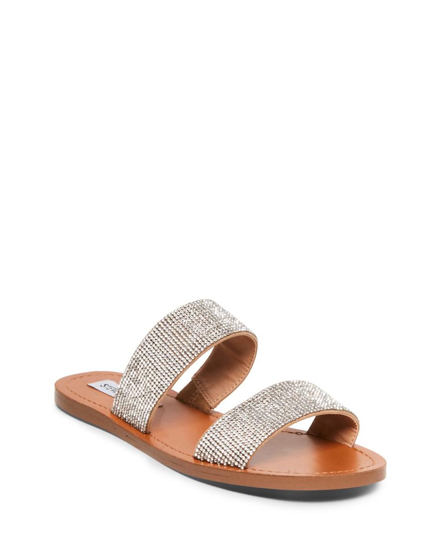 Rage grey & brown rhinestone sandals Sale - Steve Madden