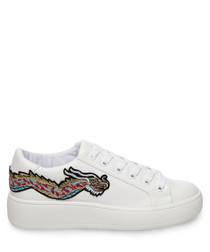 Bertie-D white pattern sneakers