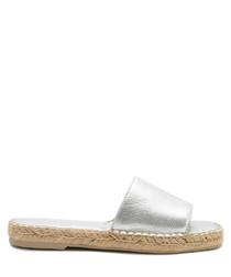 Bobbi silver metallic style slippers
