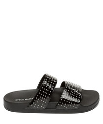 Vivid black strap spots sliders