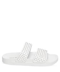 Vivid white strap spots sliders