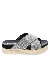 Arran-R black & grey strap sliders