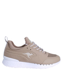 Coil Semi sand & white sneakers
