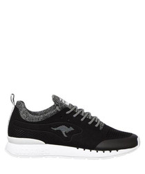 Coil R Mesh black & white sneakers