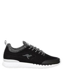 Coil R Mesh black & white sneakers