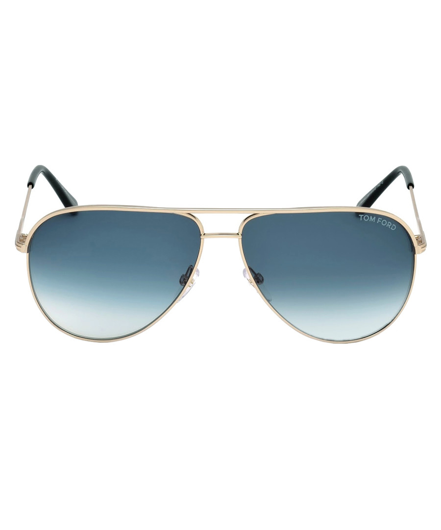 Erin blue & gold sunglasses Sale - tom ford