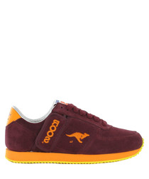 Combat-Suede red leather sneakers