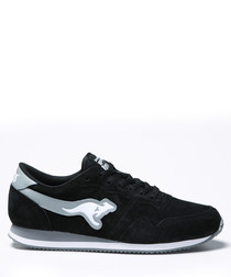 Invader black & grey suede sneakers