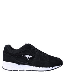 Coil-R1 Frottee black leather sneakers