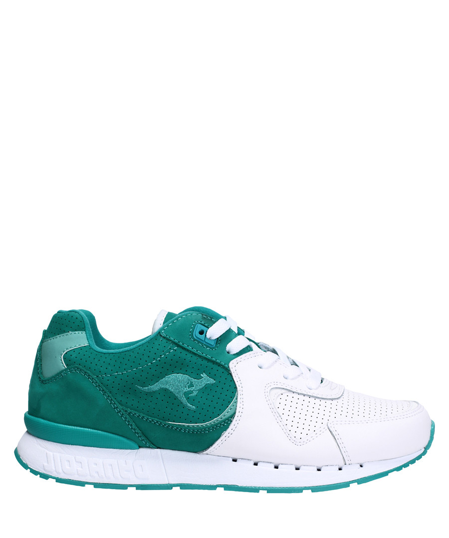 Coil-R2 tone white leather sneakers Sale - KangaROOS