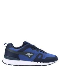 Omnicoil Woven blue & black sneakers