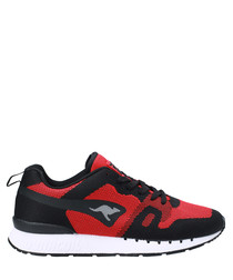 Omnicoil Woven red & black sneakers