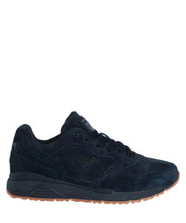 Ultimate leather black suede sneakers