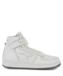 Game white & light grey velcro sneakers