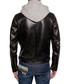 Men's black faux leather hoodie Sale - DSQUARED2 Sale