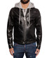 Men's black faux leather hoodie Sale - DSQUARED2 Sale
