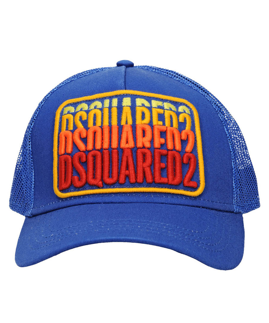 Men's blue cotton blend baseball cap Sale - dsquared2