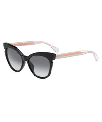 Black & pink cateye sunglasses