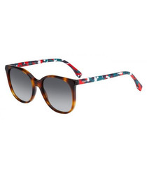 Multi-coloured tortoiseshell sunglasses