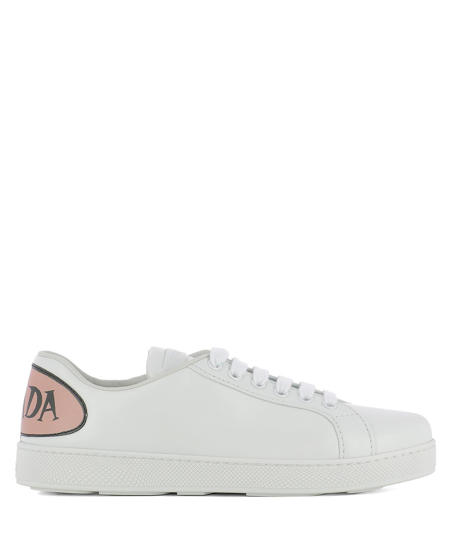 Women's white leather print sneakers Sale - Prada