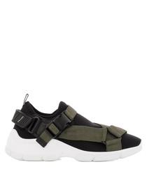 Women's black & green sneakers