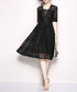 Black lace knee-length dress Sale - Kaimilan Sale
