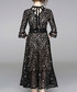 Black sheer detail midi dress Sale - Kaimilan Sale