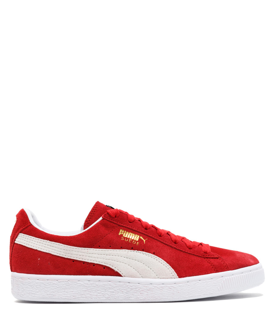 Classic+ red & white suede sneakers Sale - puma
