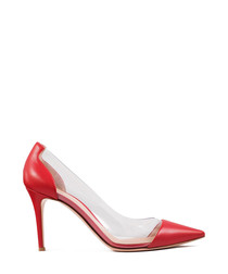 Plexi red leather high heels