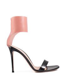 Anvers black & nude leather high heels