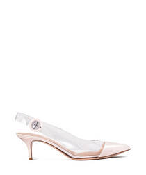 Alice pink leather mid-heels