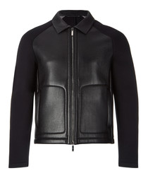 Corvis black leather jacket