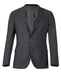 Dark grey virgin wool blazer