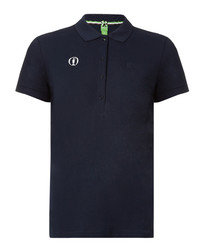 Paul navy cotton blend polo shirt
