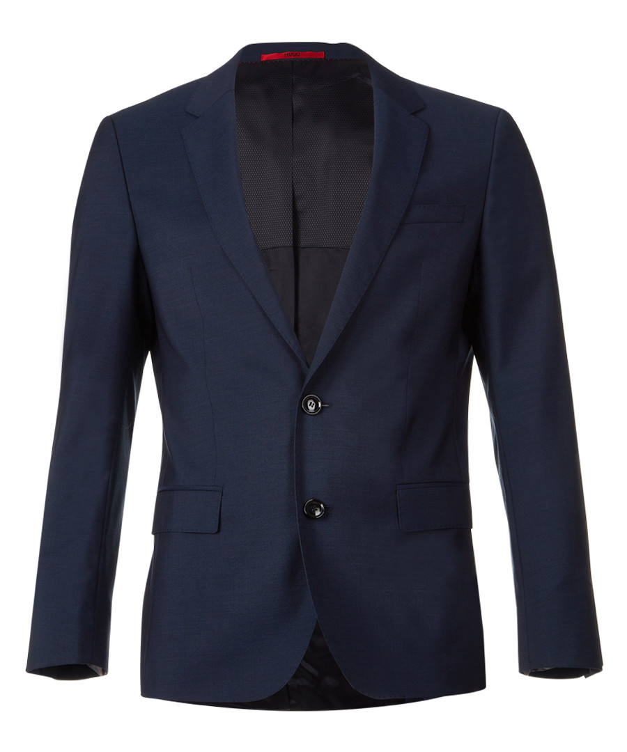 Dark blue virgin wool blazer Sale - Boss By Hugo Boss