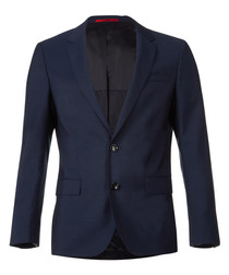 Dark blue virgin wool blazer