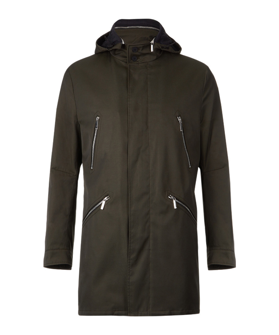 Denny dark beige hooded coat Sale - Boss By Hugo Boss