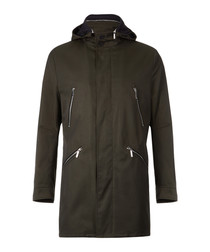 Denny dark beige hooded coat