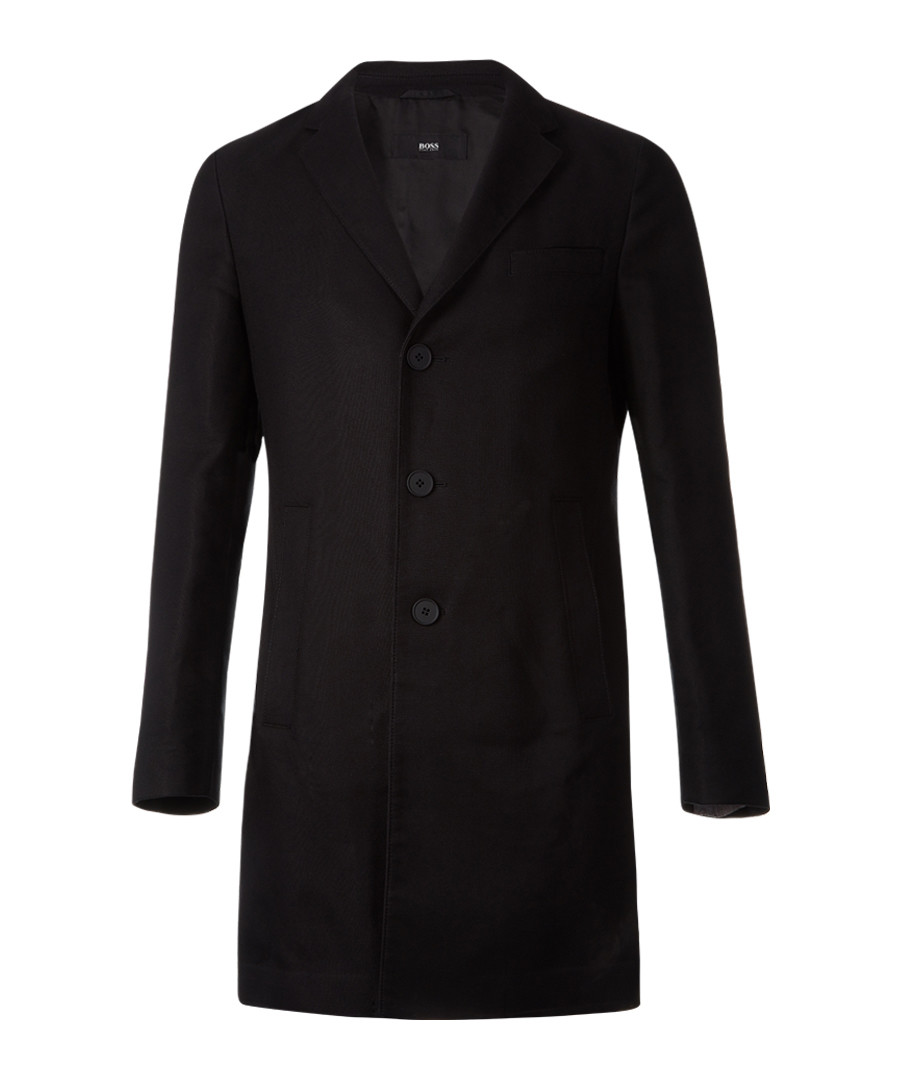 Shawn black cotton blend coat Sale - Boss By Hugo Boss
