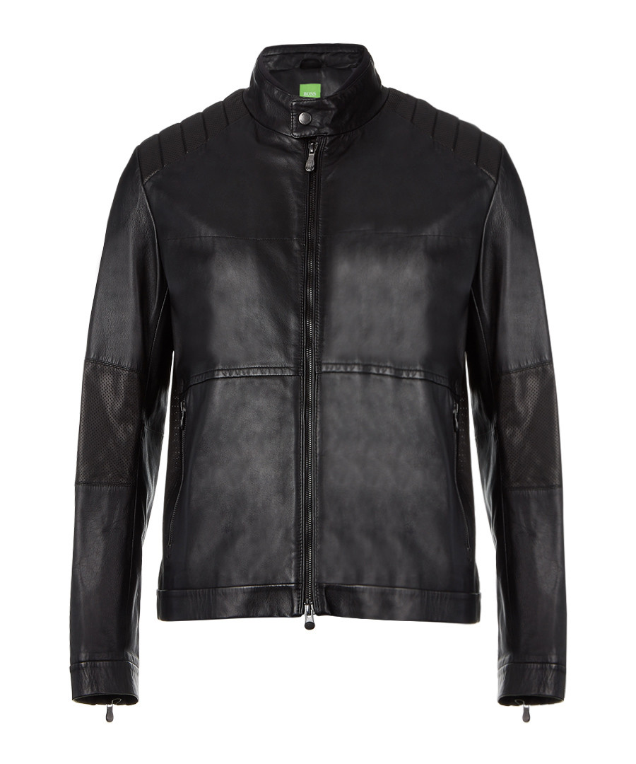Jiker black leather jacket Sale - Boss By Hugo Boss